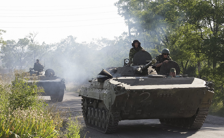 The DPR had pulled back five tanks and 77 infantry combat vehicles and armored personnel carriers earlier on Monday, the spokesman also said