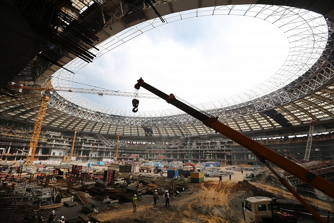 Luzhniki Arena stadium in Moscow's, which is intended, according to the organizers, to host the final match of the 2018 World Cup