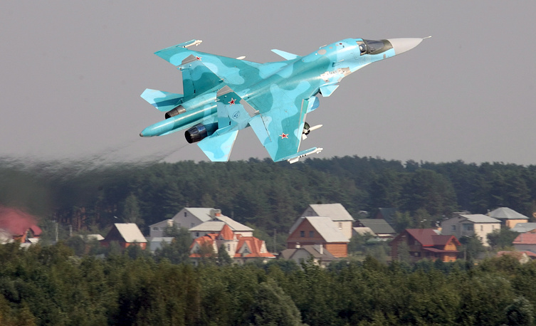 Sukhoi Su-34 bomber aircraft was designed for tactical deployment against ground and naval targets