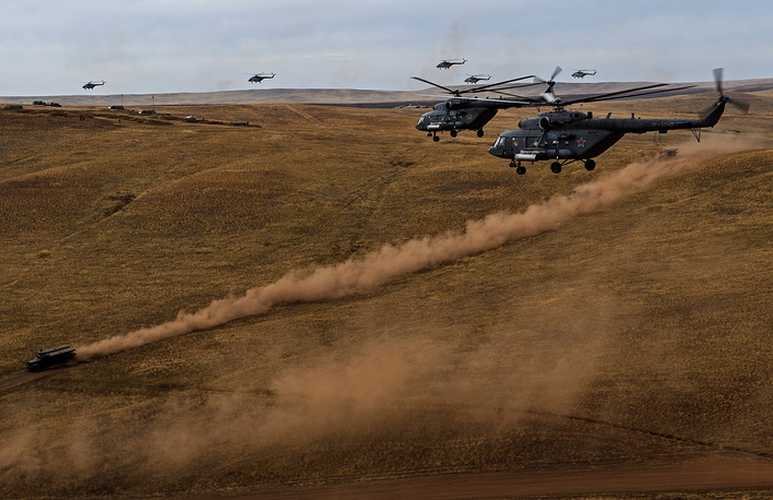 The drills involve military command structures and troops of the Central Military District, the Caspian Flotilla, the Airborne Forces, long-distance, and military transport aviation, as well as the control bodies and units of the Interior Ministry, Emergency Situations Ministry, Federal Security Service, Federal Protective Service and the Federal Drug Control Service of Russia, the task force and units of the armed Forces of the Republic of Kazakhstan that are part of the CSTO collective rapid reaction force