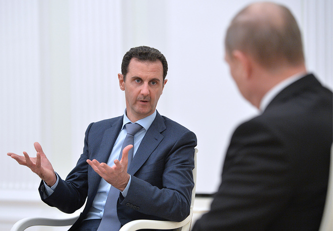 During the talks Assad spoke in favor of a political solution to the crisis in his country, saying that military operations should be followed by political actions