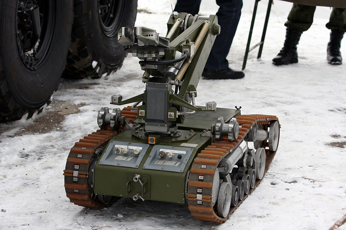 MRK-RKh mobile robotic system of radiation and chemical reconnaissance