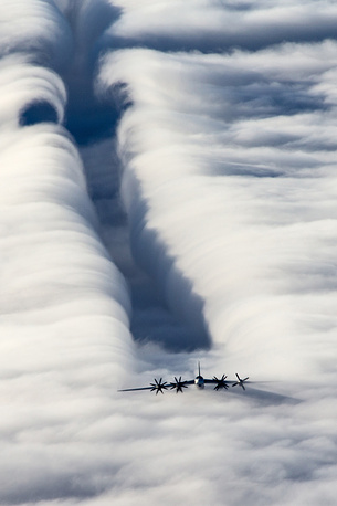 Tu-95 is a large, four-engine strategic bomber and missile platform. Tu-95 entered service with the Soviet Union in 1956