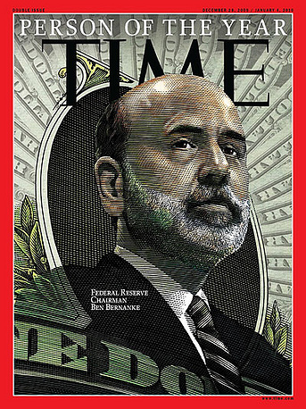 """In 2009 Time named Federal Reserve Chairman Ben Bernanke as its Person of the Year, calling him """"the most powerful nerd on the planet. Bernanke was the head of the US central banking system during the financial crisis of 2007–08"""