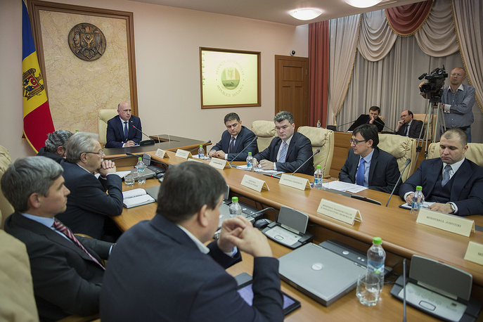Pavel Filip was elected as Prime Minister of Moldova, an office which has been vacant since 29 October 2015, by the Moldovan Parliament with 57 of 101 votes. Photo: Prime Minister of Moldova Pavel Filip during his first government session