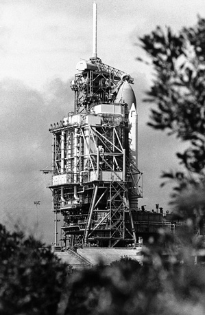 The space shuttle Challenger in Kennedy Space Center in Cape Canaveral