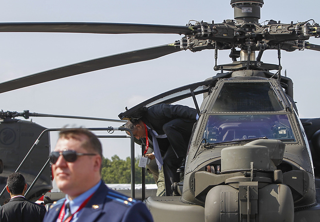 AH-64 Apache attack helicopter