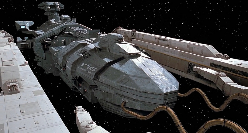 The spaceship from 'Starship Troopers'