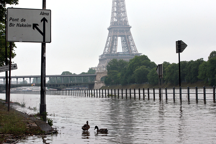 Floods and heavy rain drenched about a quarter of the French territory over several days