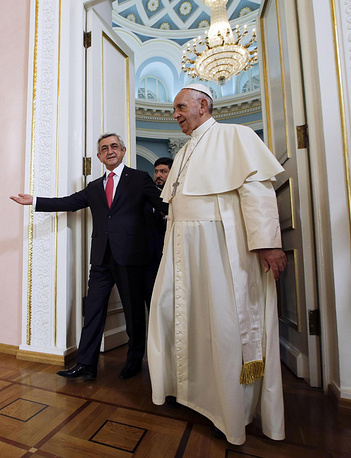 Pope Francis and Serzh Sargsyan