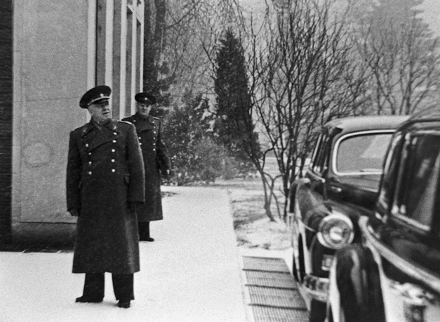After the war, Zhukov was the supreme military commander of the Soviet Occupation Zone in Germany. Photo: Marshal Georgy Zhukov in Moscow Kremlin, November, 1945