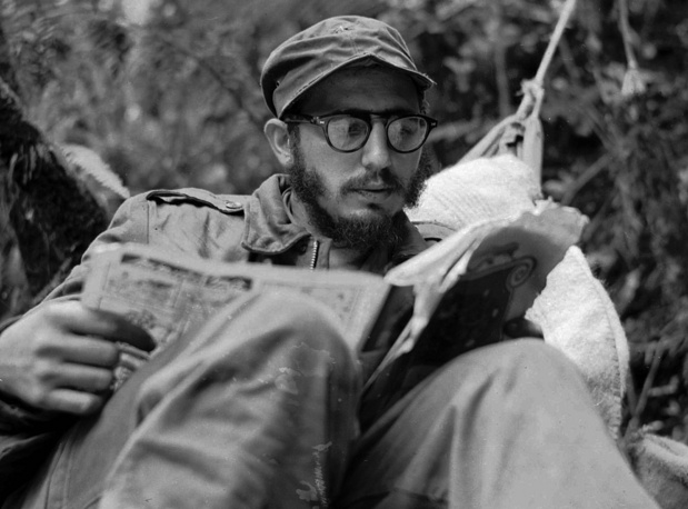 Only about a dozen of rebels survived the revolution, including Castro himself, his brother Raul and Che Guevara. Photo: Fidel Castro at his rebel base in Cuba's Sierra Maestra mountains, 1957