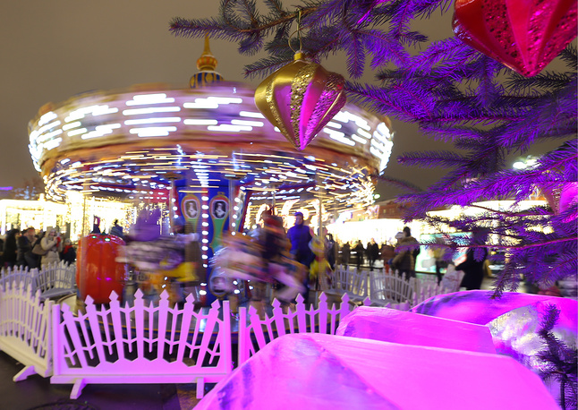 A merry-go-round in Moscow's Red Square