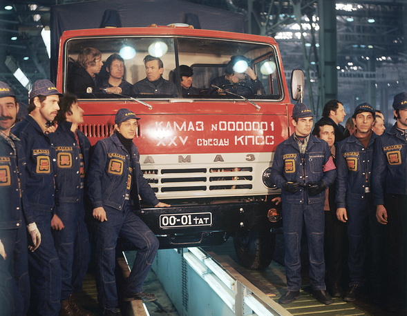 The first Kamaz truck launching ceremony, 1976