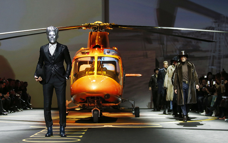 Billionaire men's Fall-Winter 2017-2018 collection presentation, part of the Milan Fashion Week, unveiled in Milan, Italy, January 16