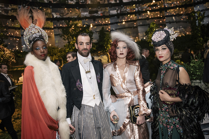 """Guests at the """"Grand Bal Christian Dior"""" in Paris"""