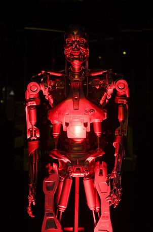 The original T-800 Endoskeleton robot used in the film 'Terminator Salvation'
