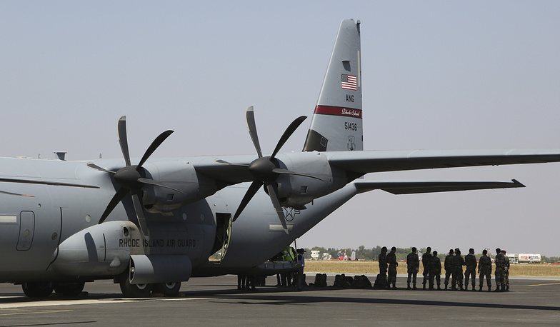 US Air Force C-130 transport aircraft