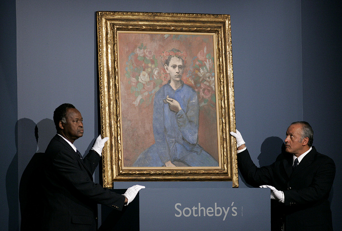 In 2004, Pablo Picasso's 1905 painting Boy with a Pipe was sold for $104,2 mln