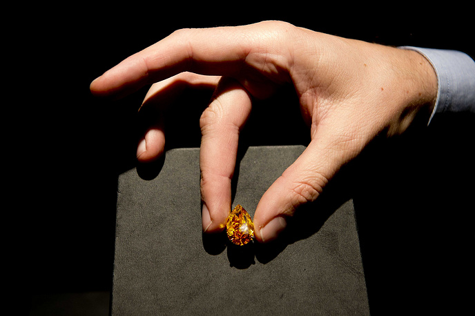 """The largest vivid orange diamond, simply called """"The Orange"""" to ever appear at auction was sold for more than $35.5 mln at Christie's in Geneva on November 12, 2013. The information of the 14.83-carat gemstone's origin and buyer were not made public"""