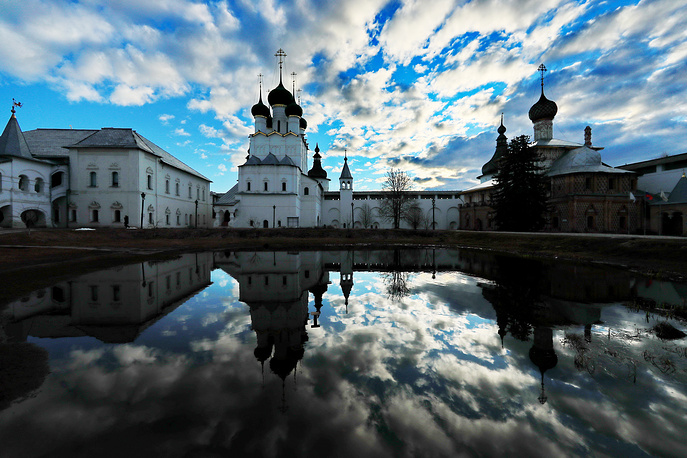 A view of the Kremlin in the town of Rostov, which is part of the Russian Golden Ring, April 23