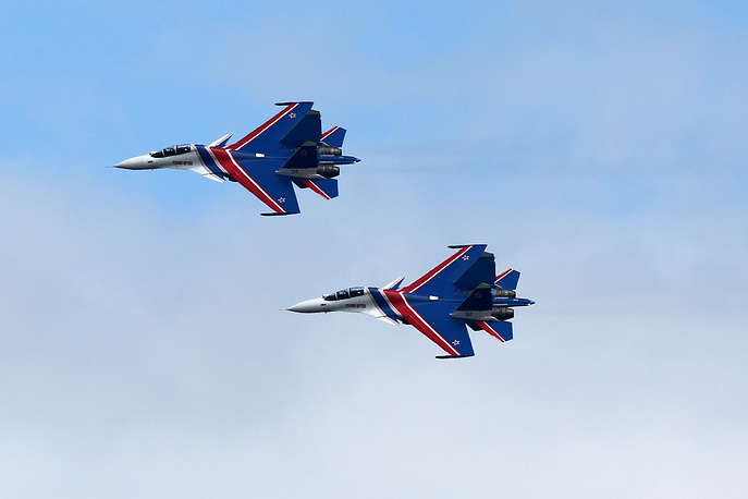 Sukhoi Su-30SM fighter jets