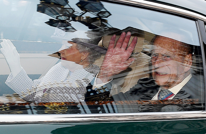Prince Philip, The Duke of Edinburgh and Elizabeth II leave Buckingham Palace in London, Britain, May 4. The Duke of Edinburgh, 95, will stand down from royal public events as of from Autumn 2017