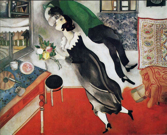 "Mark Chagall ""L'Anniversaire"" (1923) was sold for $14,9 million in 1990"