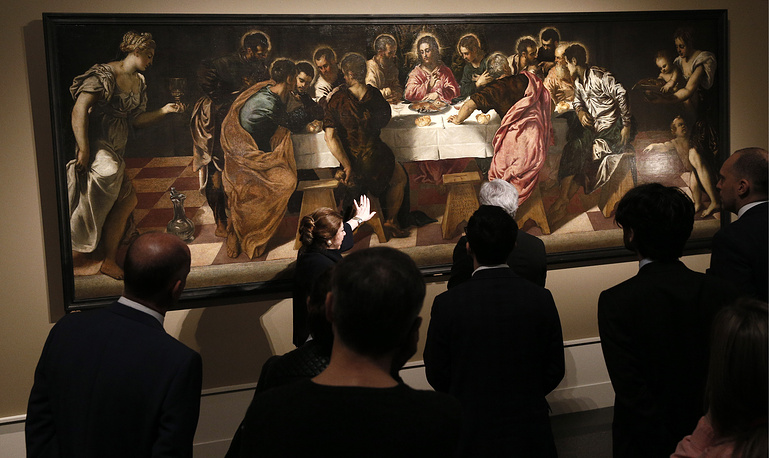 The Last Supper by Tintoretto dated around 1547