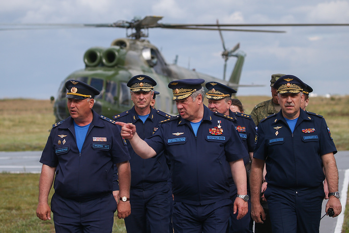 Commander-in-Chief of the Russian Aerospace Forces, Col Gen Viktor Bondarev at the Aviamix airshow