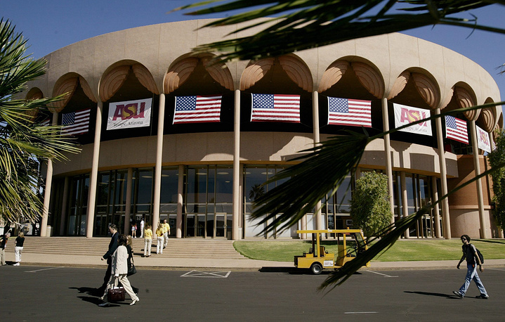Gammage Auditorium, designed by Frank Lloyd Wright, on the Campus of Arizona State University