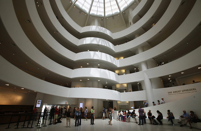 The interior of the Solomon R. Guggenheim Museum in New York