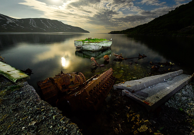 A view of a quay in the Bechevinskaya Bay
