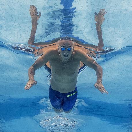 Laszlo Cseh of Hungary competes in the men's 200m Butterfly Heats