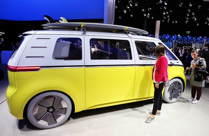 An electric Volkswagen Buzz concept car