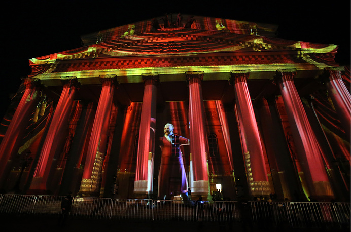 Large-scaled video projections and installations will be displayed at several city venues