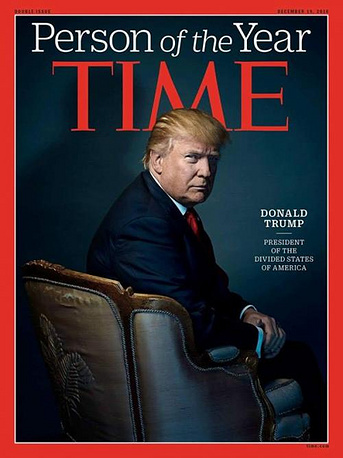 US President Donald Trump was named Time magazin's Person of the Year 2016. Trump had just become president-elect after stunning the nation by winning the White House race