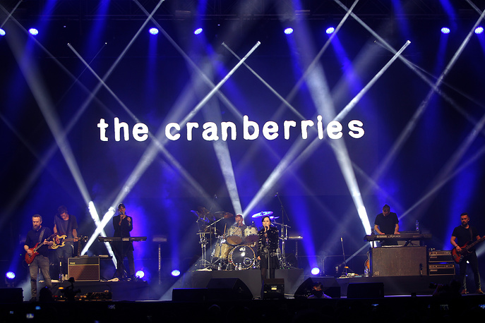 The Cranberries performs at the Moon Palace Arena in Cancun, Mexico, 2017