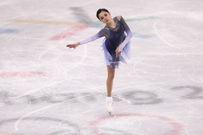 Evgenia Medvedeva set a new world record in the women's figure skating short programme. Medvedeva, the reigning world champion, was awarded 81.06 for her performance