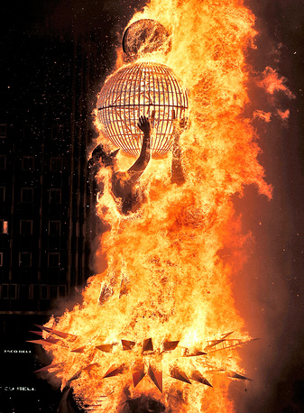 Las Fallas festival is held in Valencia region annually from 15 to 19 March