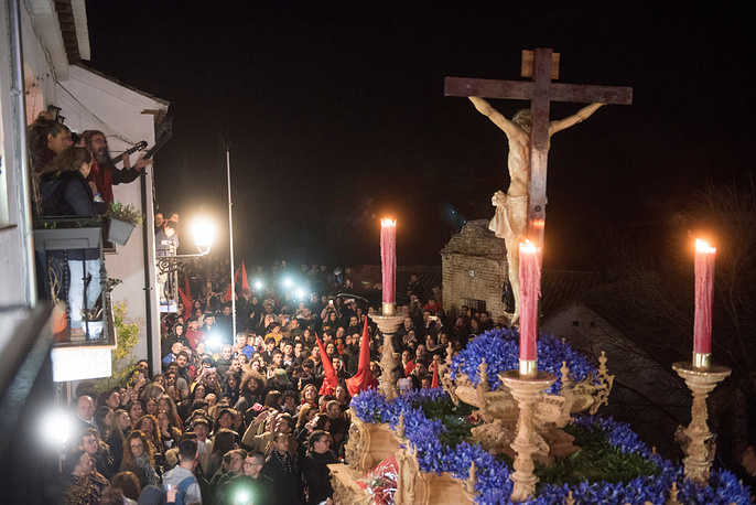 'The Holy Christ of Solace and the Most Holy Mary of Sacromonte' procession in Sacromonte Abbey in Granada, Spain