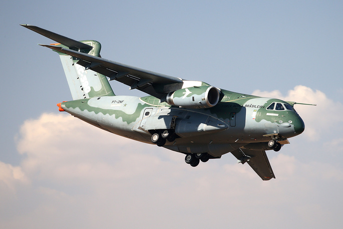 Embraer KC-390 twin-engine jet-powered military transport aircraft