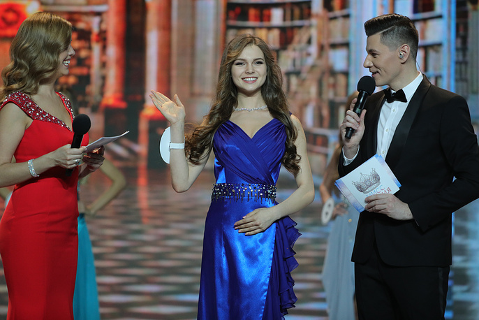 Yulia Polyachikhina seen the final show of the 2018 Miss Russia National Beauty Contest