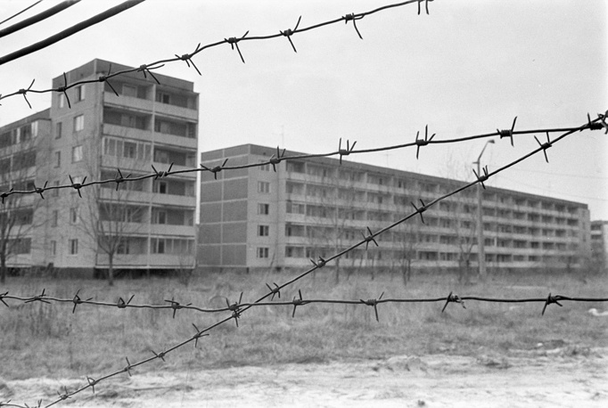 The town of Pripyat near the Chernobyl Nuclear Power Plant abandoned after the catastrophic nuclear accident