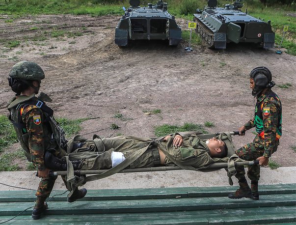 Military medical relay race as part of the 2018 International Army Games