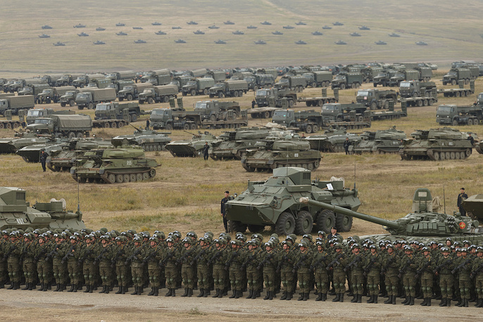 Chinese servicemen and military hardware seen during a parade of military hardware and aviation
