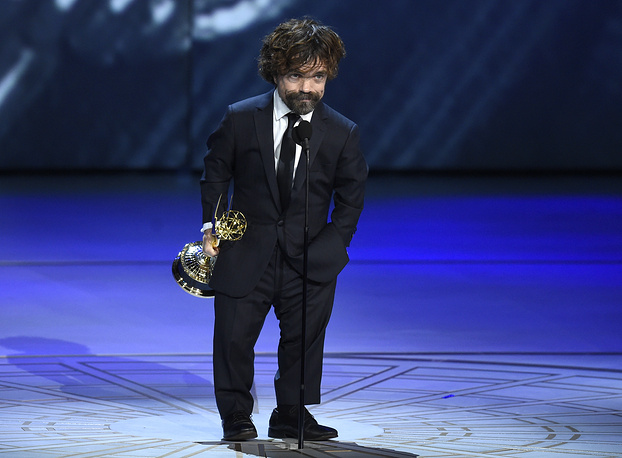 Peter Dinklage won the Best Supporting Actor in a drama series award for his role as Tyrion Lannister on 'Game of Thrones'