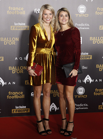 Olympique Lyonnais' Ada Hegerberg and Paris Saint-Germain's Andrine Hegerberg