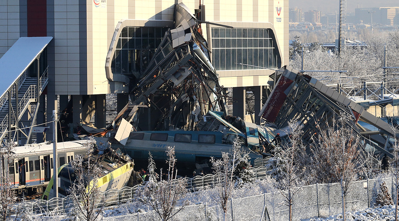 According to Turkish Health Ministry, nine people were killed and 84 were injured in the train crash