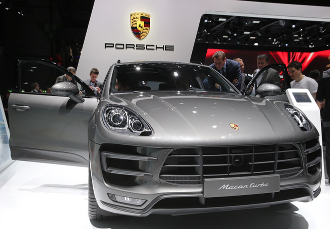 Презентация автомобиля Porsche macan turbo